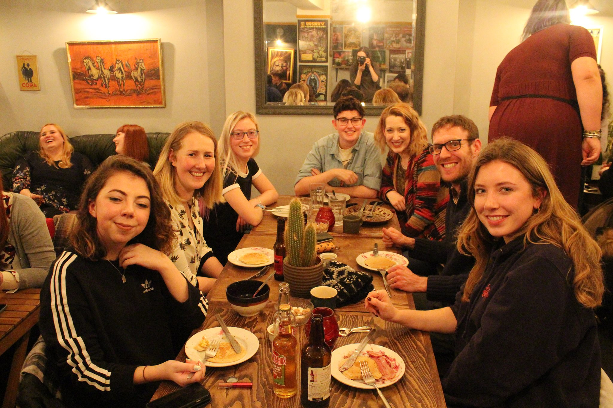 A photo from last year's pancake day lock in!