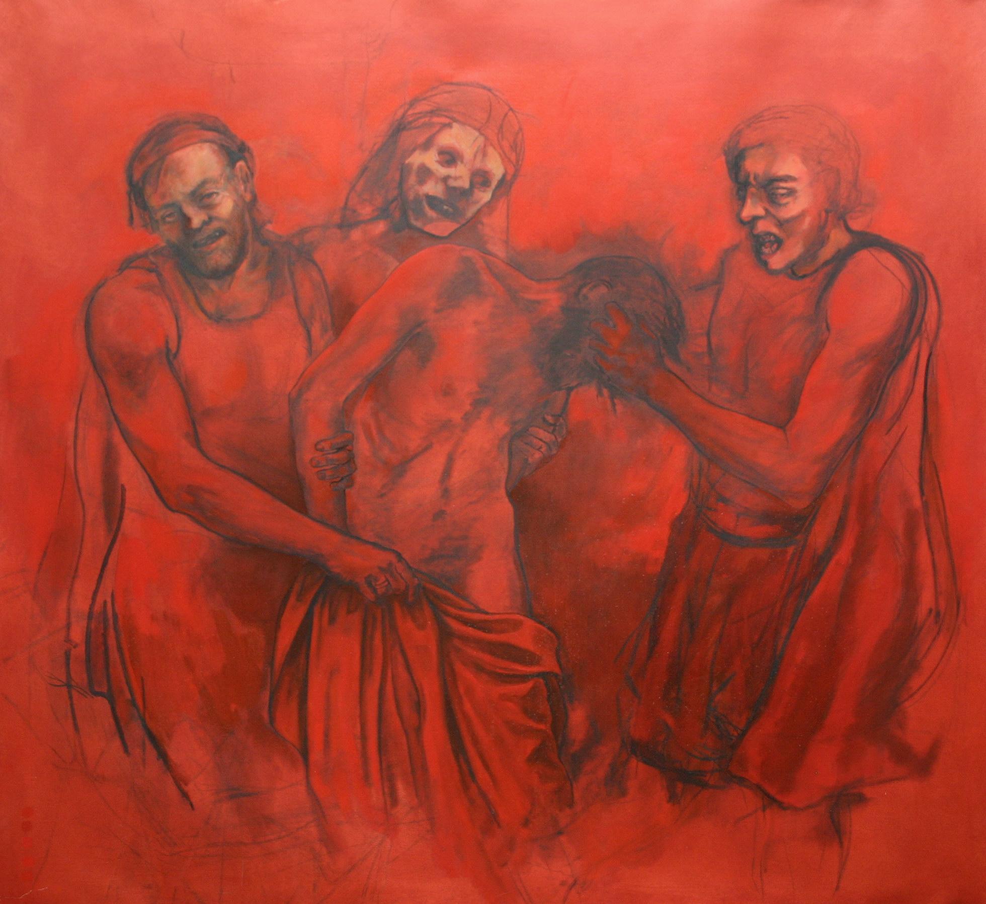 "The Disrobing of Christ 48 x 54"" 2001"