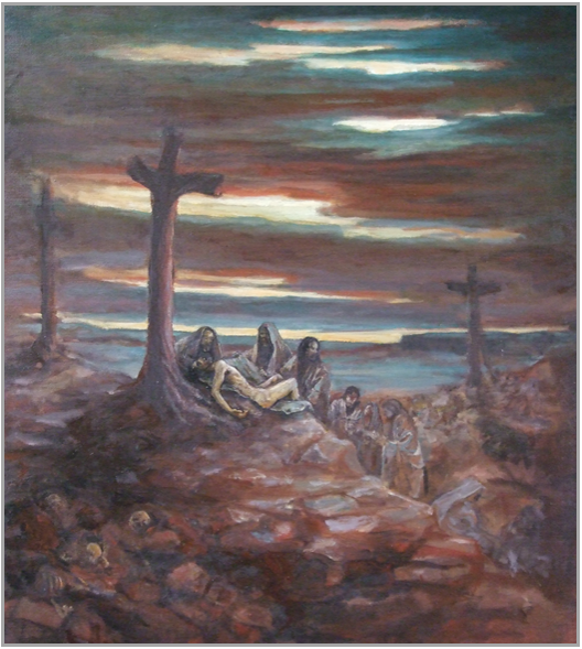 """The Deposition of Christ 24 x 30"""" 2001"""