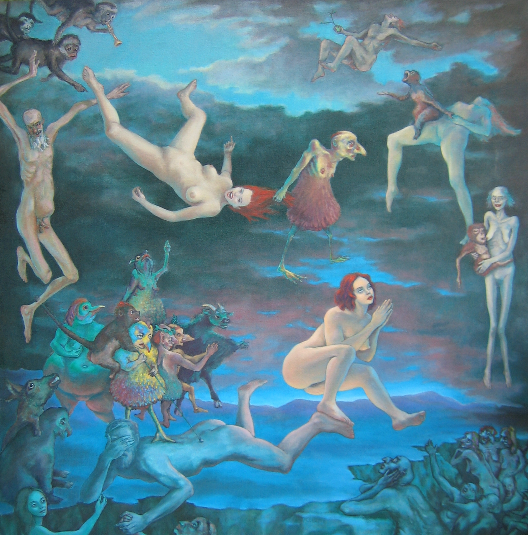 "The Apocalypse of St. Luke 48 x 48"" 2001"