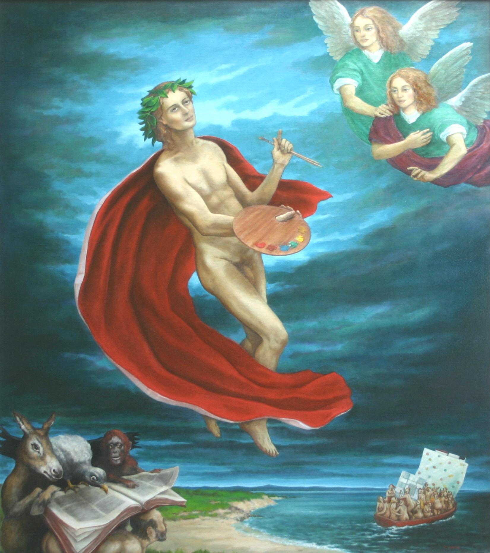 """The Apotheosis of St. Luke 43 x 49"""" 2004"""