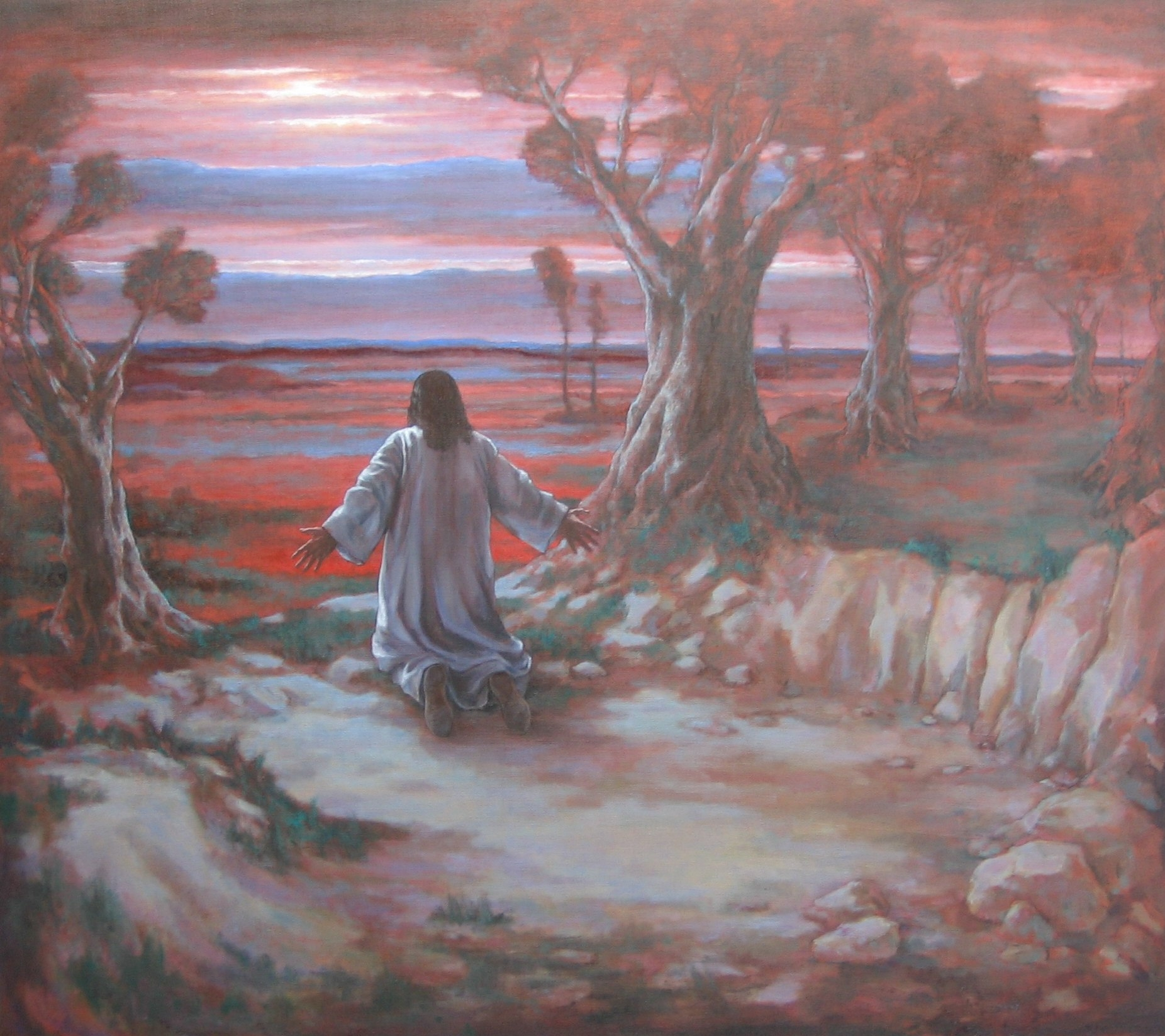 """Gethsemane 44 x 38"""" 2006"""