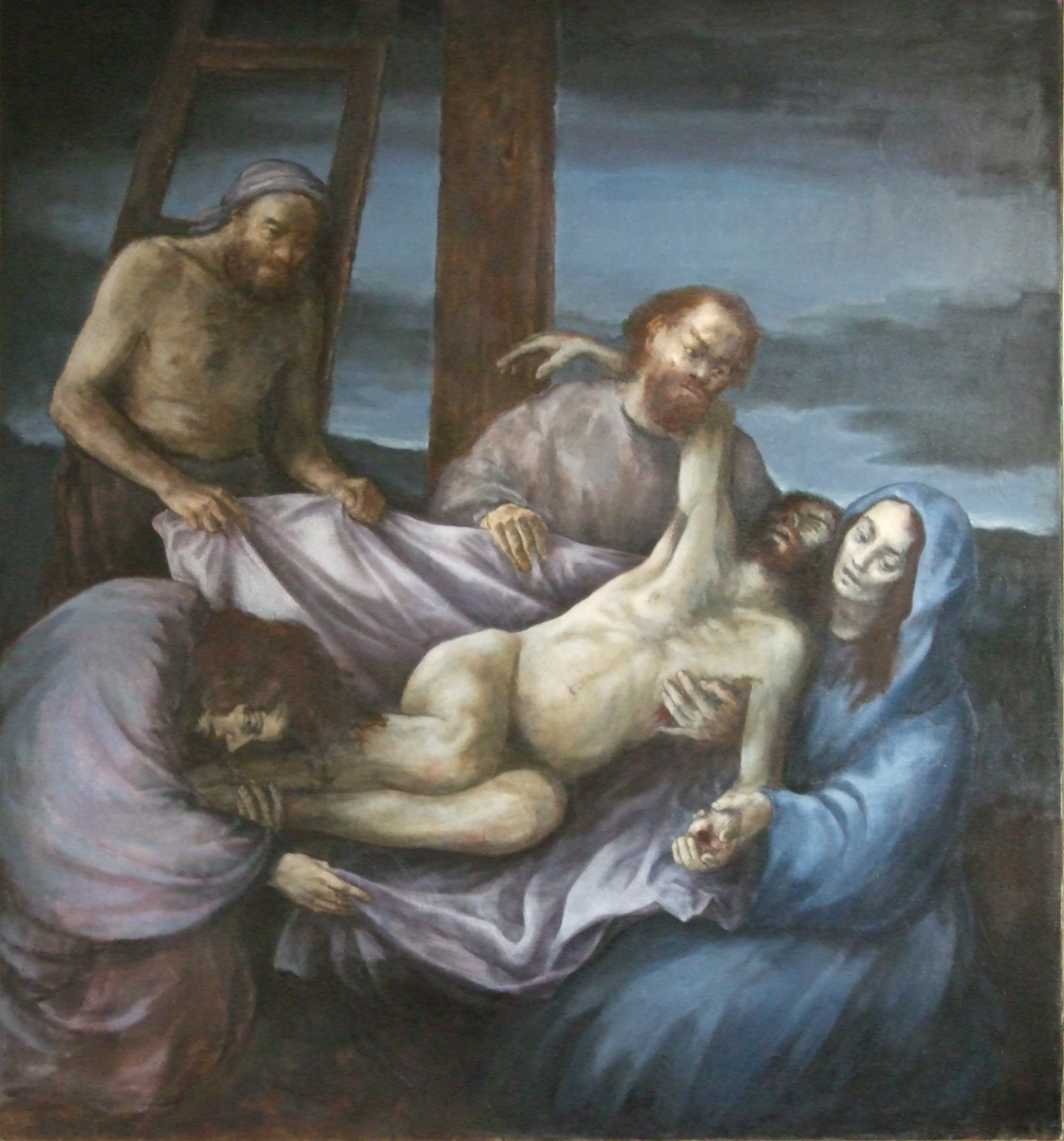 The Deposition 40 x 50 ins 1987