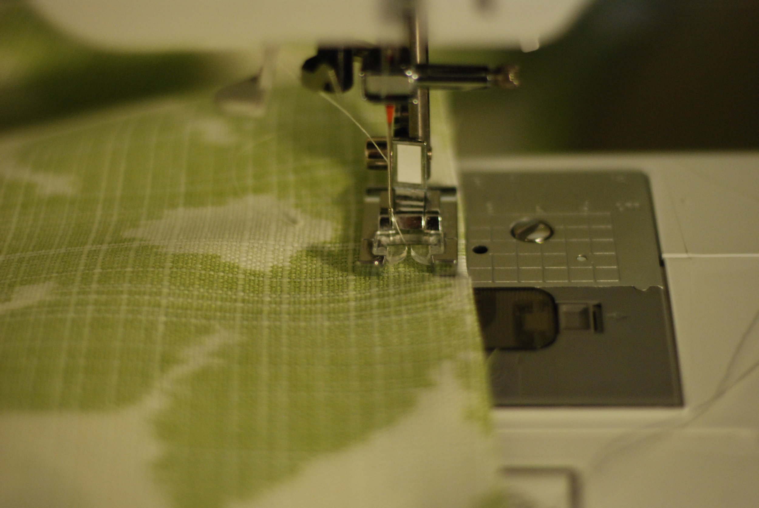 Sew a 1/2' on both sides of the pillow and leave an 8-10 inch opening at the bottom.