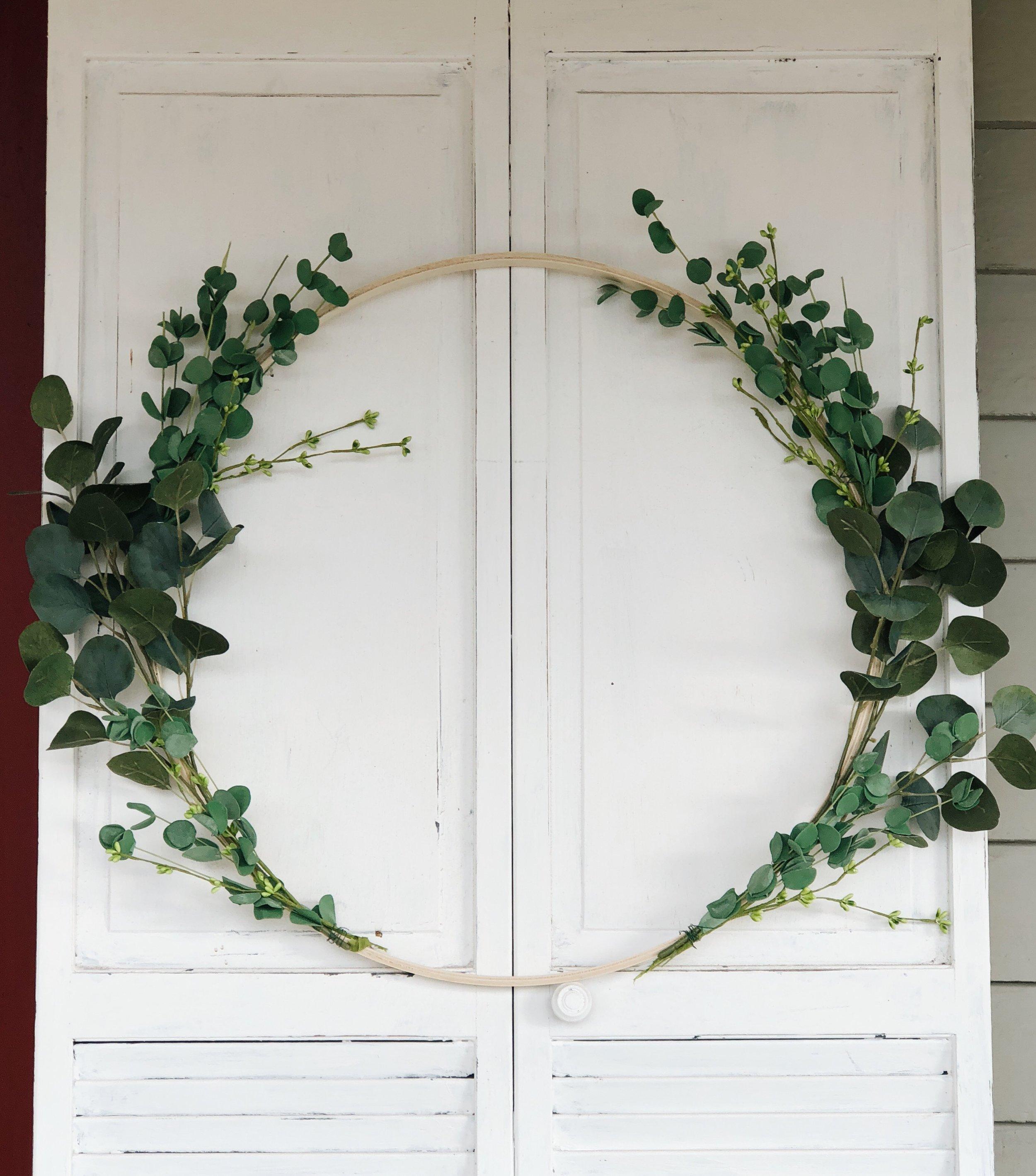 double sided hoop wreath