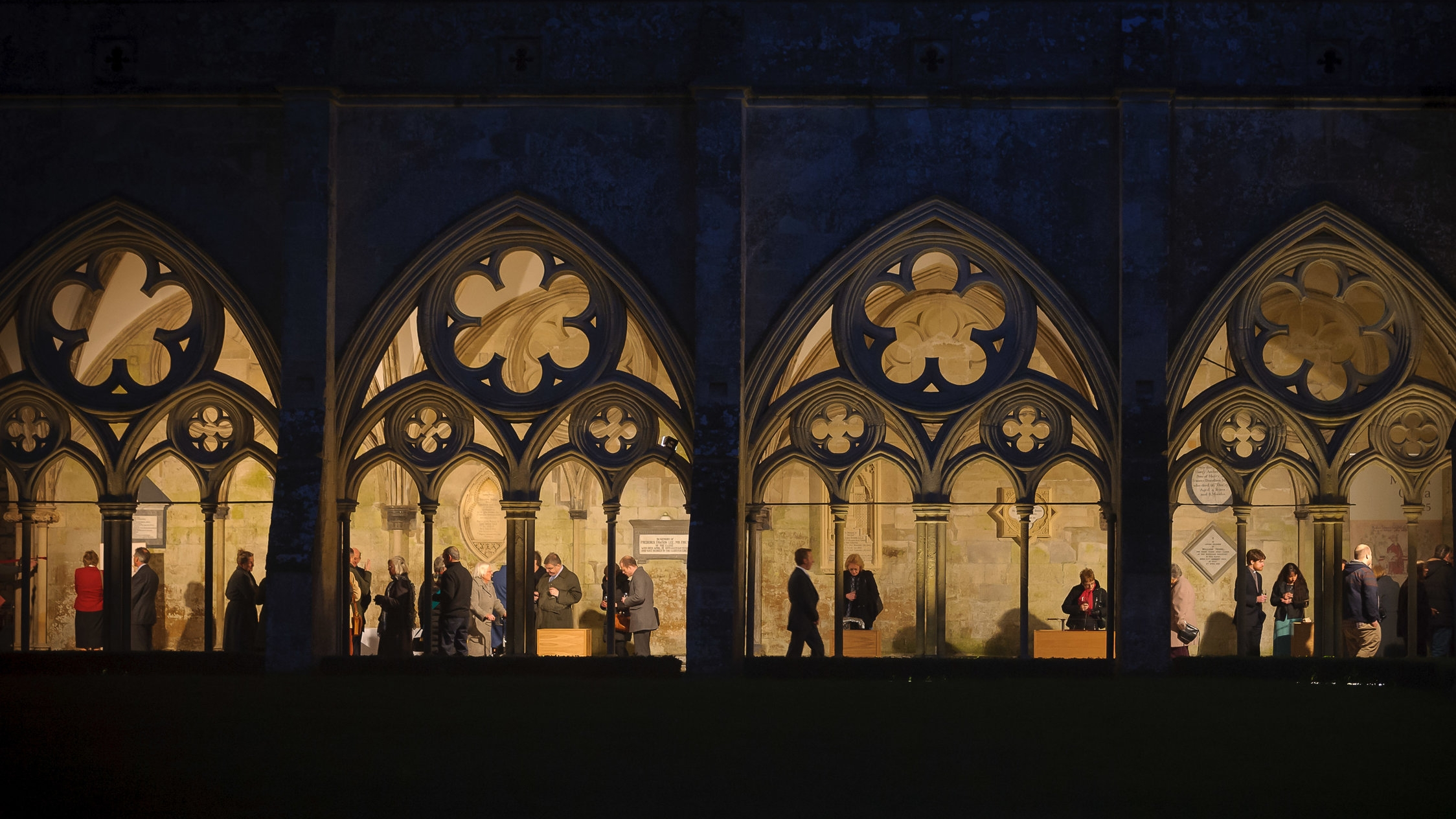 The exquisite medieval cloisters of Salisbury Cathedral are the location for this year's event
