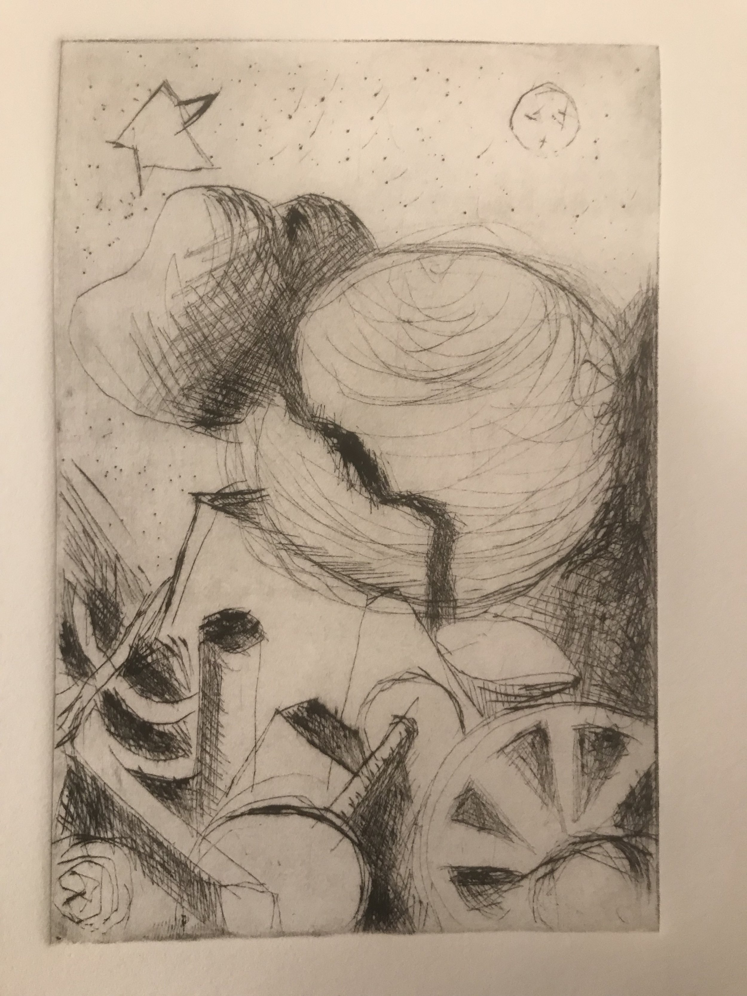 I did a drypoint workshop at Harvard Art Museum's Material Lab and made this thinking about my reductive wood prints.