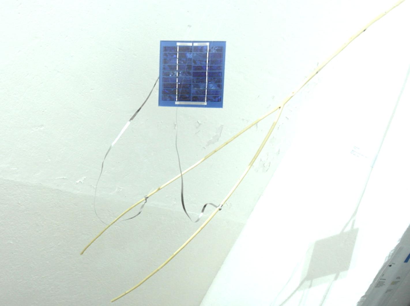 Bâton de sourcier / bois, cellule photovoltaïque Erik Samakh