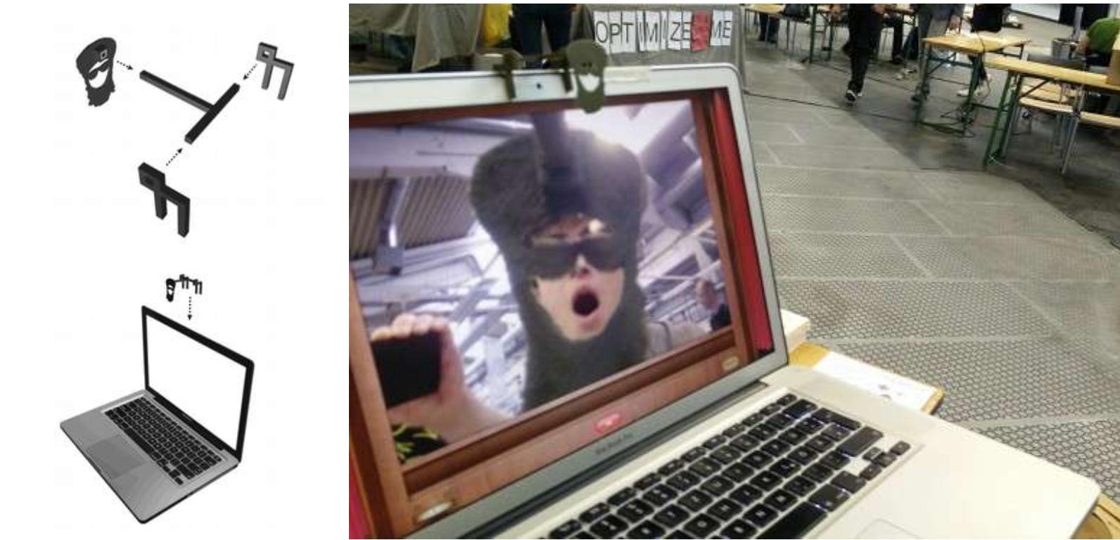 Universal Suspect  Aren't we all a little supicious? (a webcam cover for laptops)