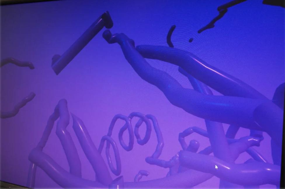 sans titre / 3D, lunettes d'immersion, détection de main  Vincent Pouydesseau