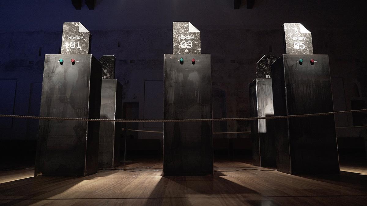 file Genesis(hard drive sculpture)