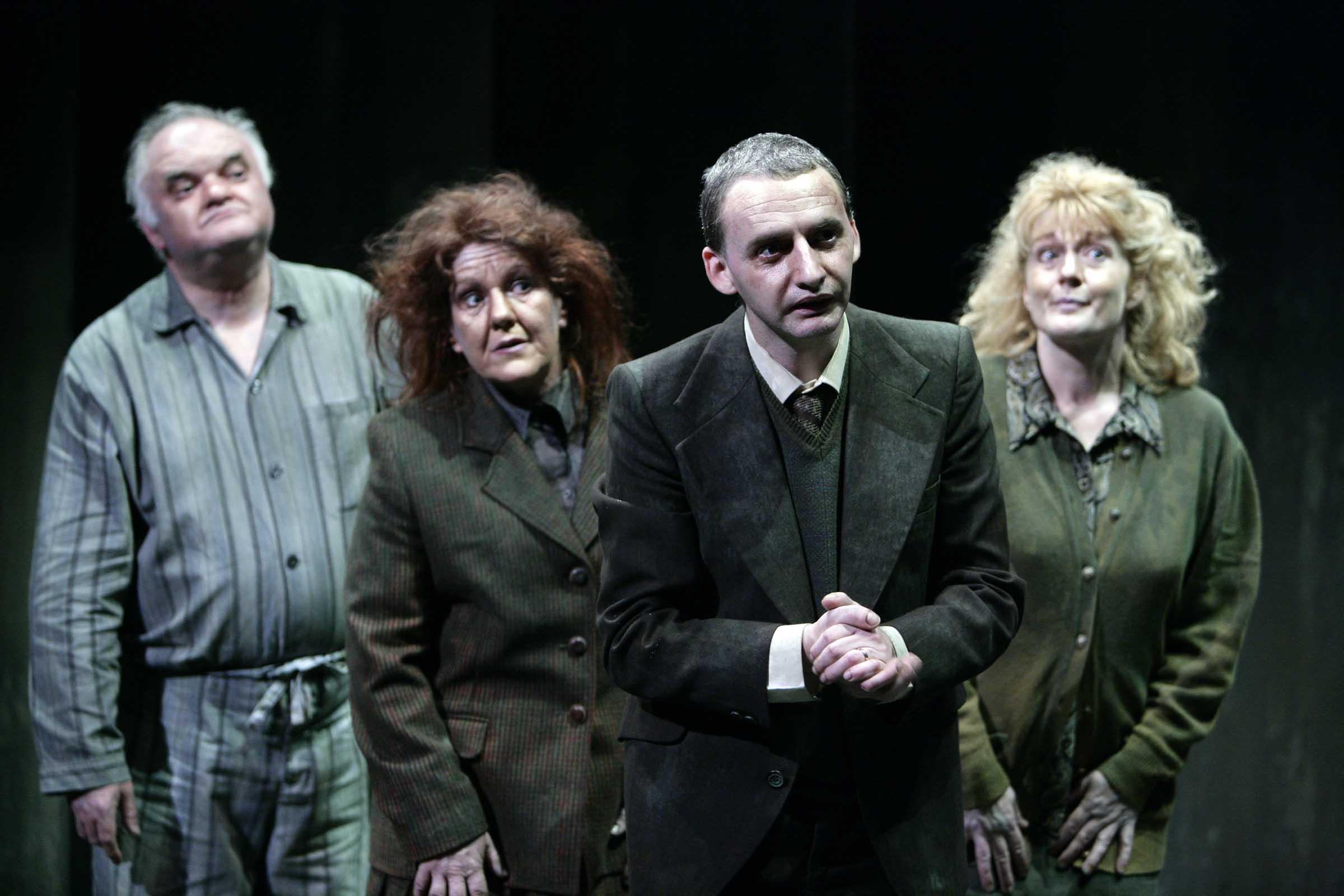 Family Plot - by Daragh Carville.Gordon Fulton, Susie Kelly, Frankie McCafferty and Libby Smith. Photo Phil Smyth