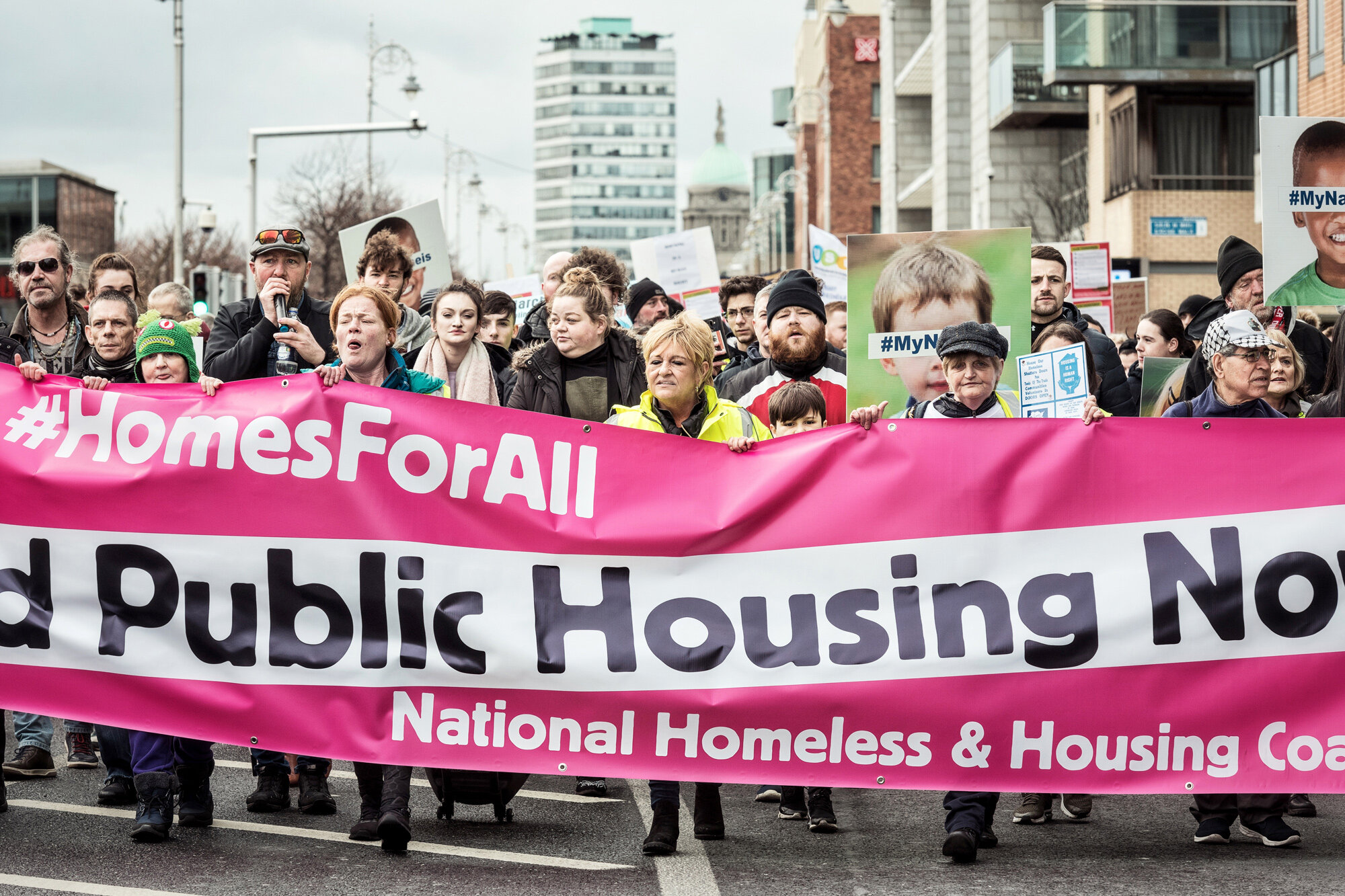 The protest march organised by the National Housing and Homelessness Coalition  Photograph: Graham Martin for Point.51