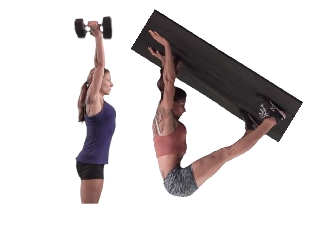 Press & pike pushup have the same top position. Pull chest through, arms by ears, tight belly