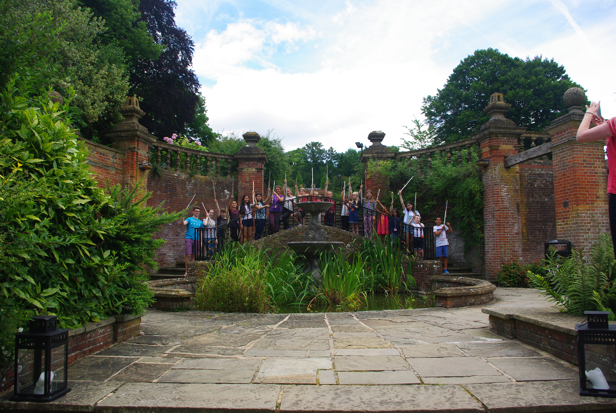 The beautiful gardens at Woldingham, the perfect place for an intensive flute course.