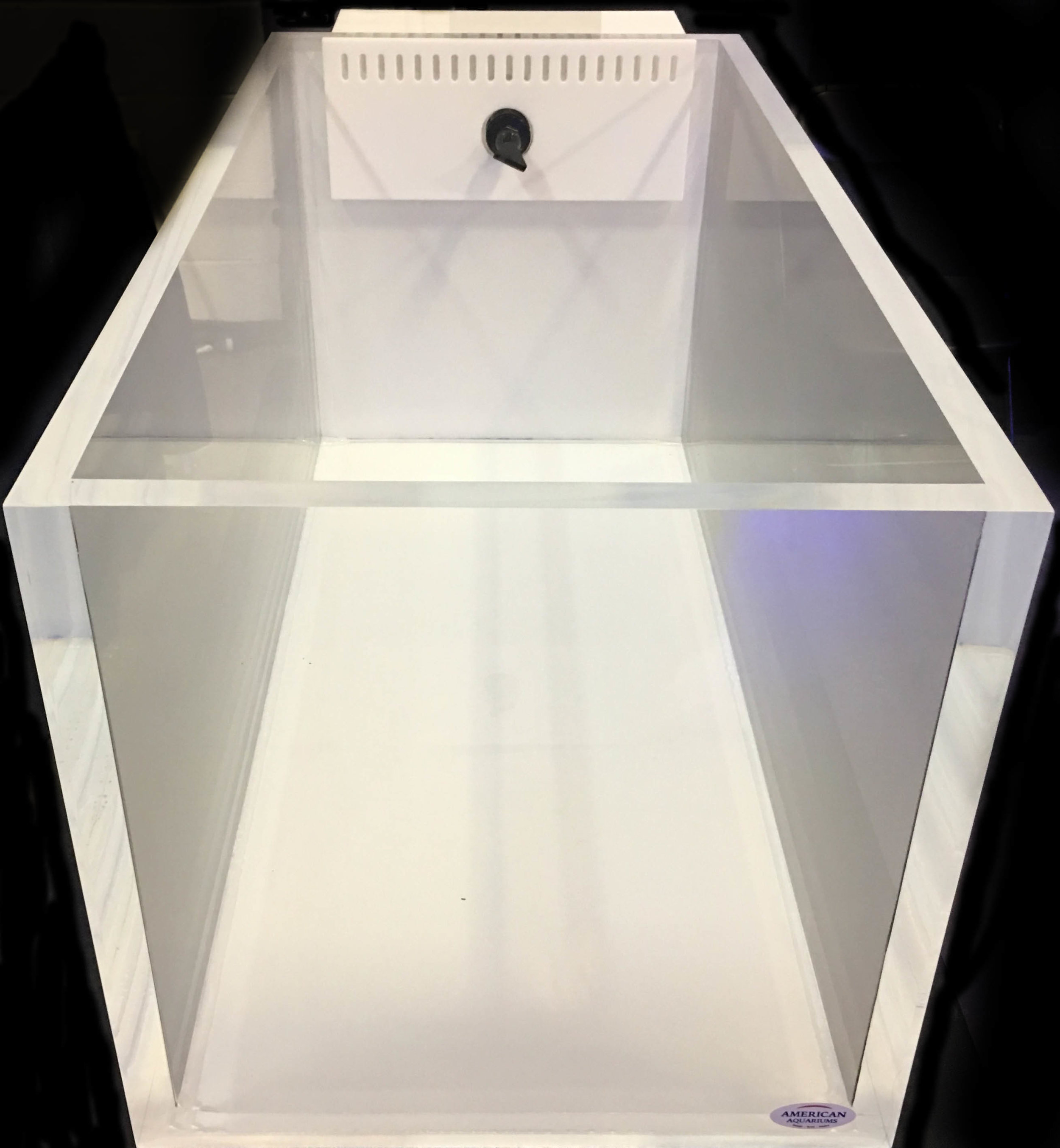 Rimless Style Aquariums - Rimless aquariums are tanks that do not have a top frame. Thicker material must be used for the side panels to prevent deflection (bowing). This increases the aquarium cost but offers an extremely