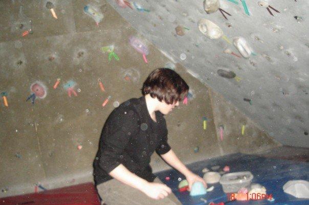 16 year old Kaleb at Wallnuts Climbing Centre. Photo courtesy of Susan Redmond.