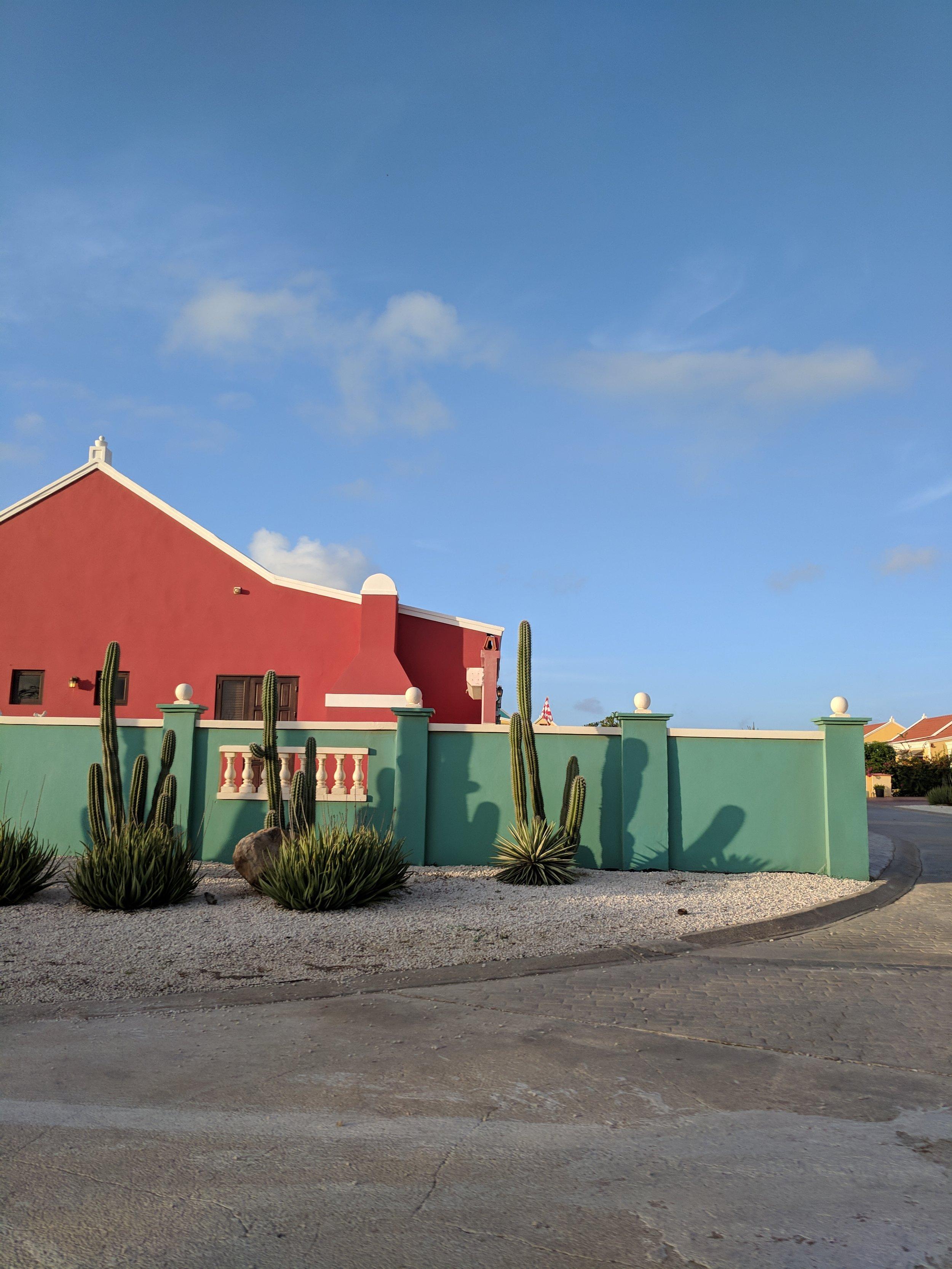 Bright colored homes , Aruba