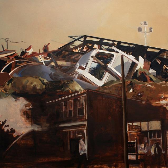 """Andrea Kastner, Keepsake, 2014, Oil on Canvas, 42"""" x 42"""""""