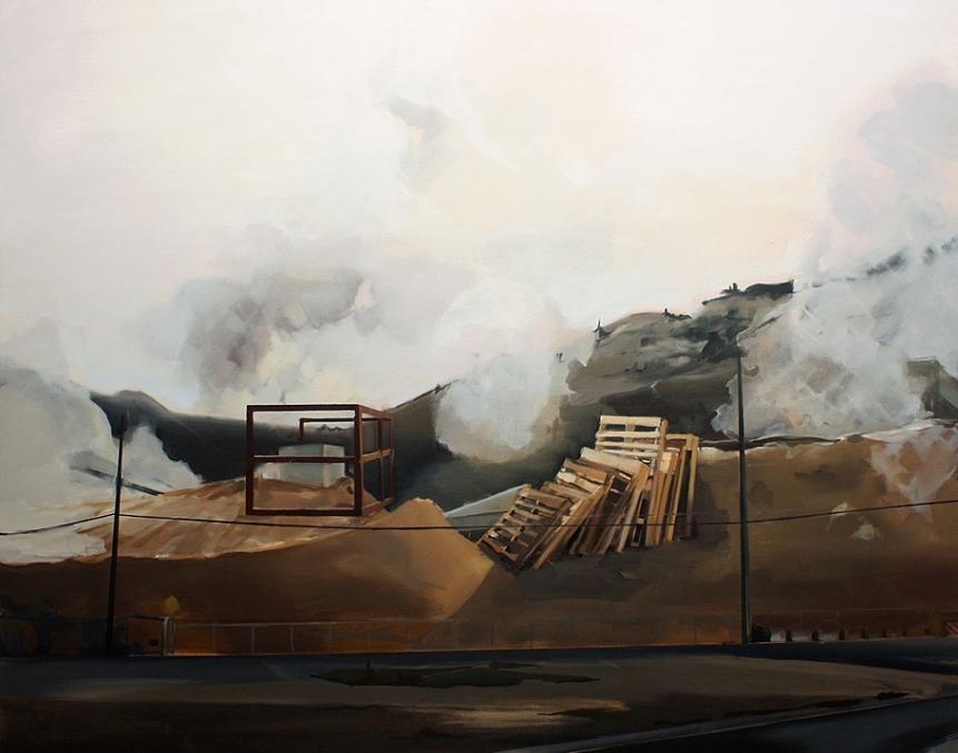 """Andrea Kastner, Woodlands, 2014, Oil on Canvas, 38"""" x 48"""""""