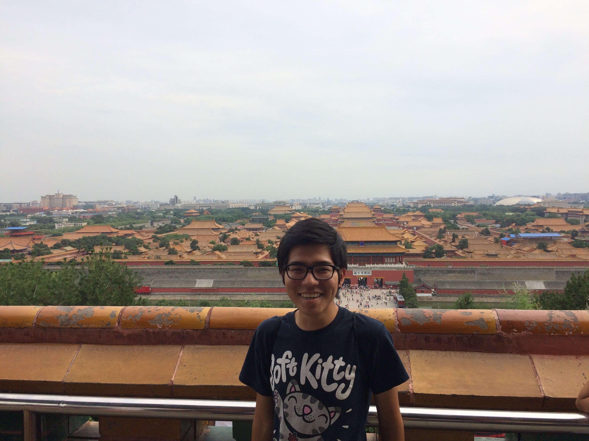 Kento Tanaka in the summer of 2017 at the Forbidden City in Beijing, where he studied Chinese on a Light Fellowship.