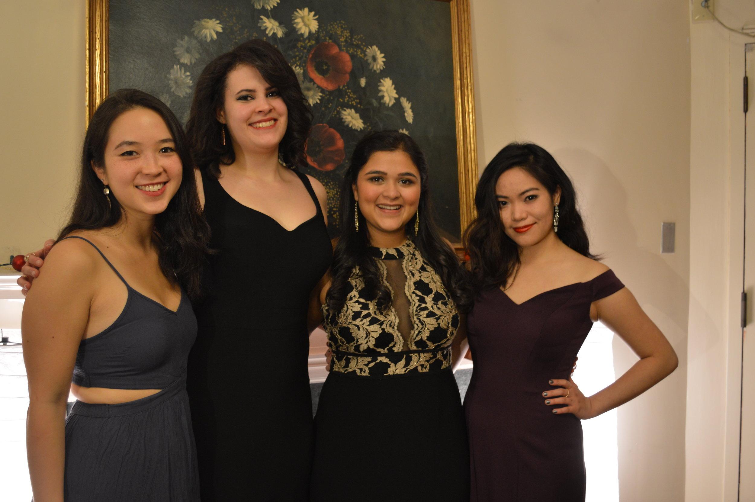 Diksha and her suitemates.