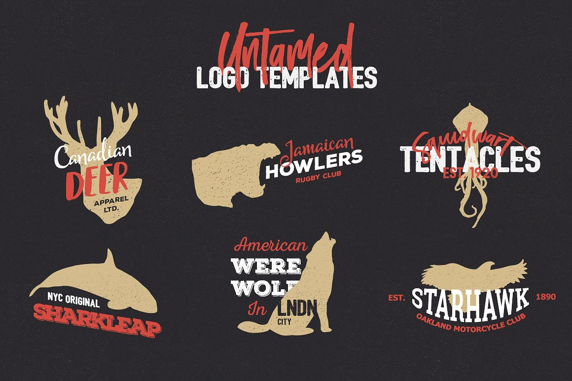 Untamed Logo Templates