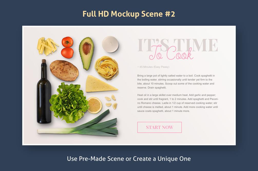 Delicious Scenes Mockup Set