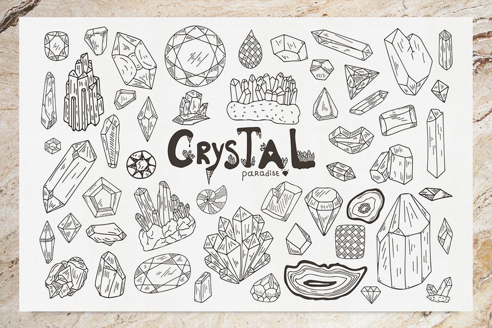 Crystal Paradise Free Vector Set