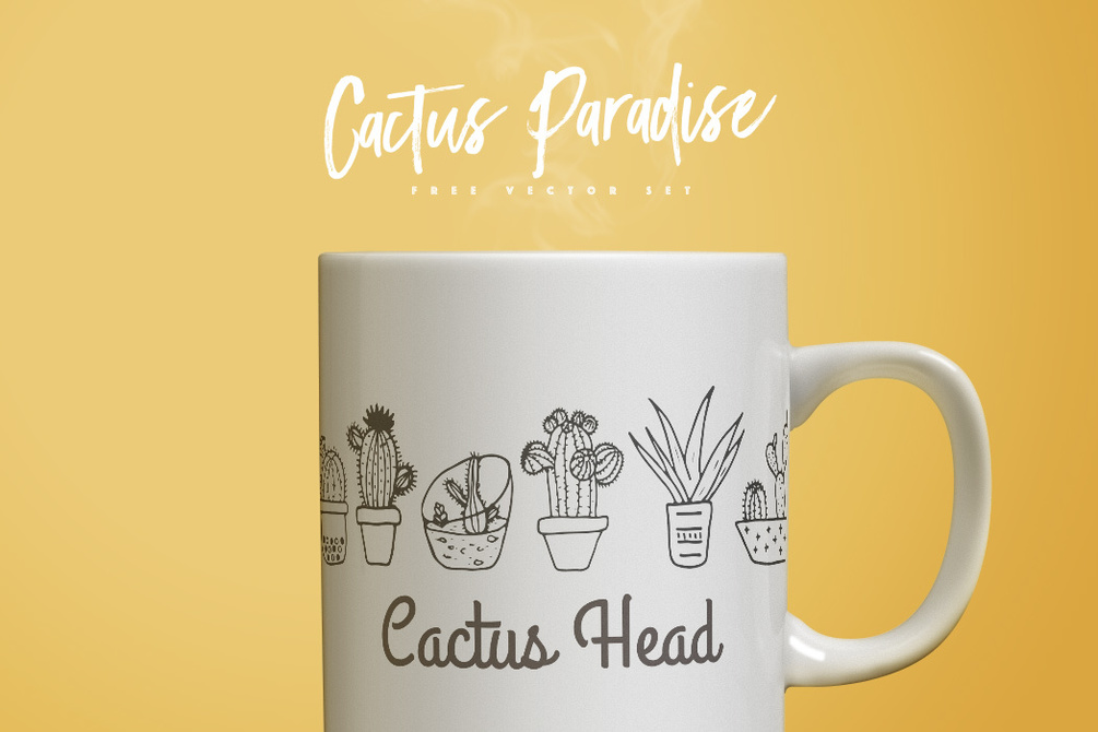 Cactus Paradise Free Vector Set