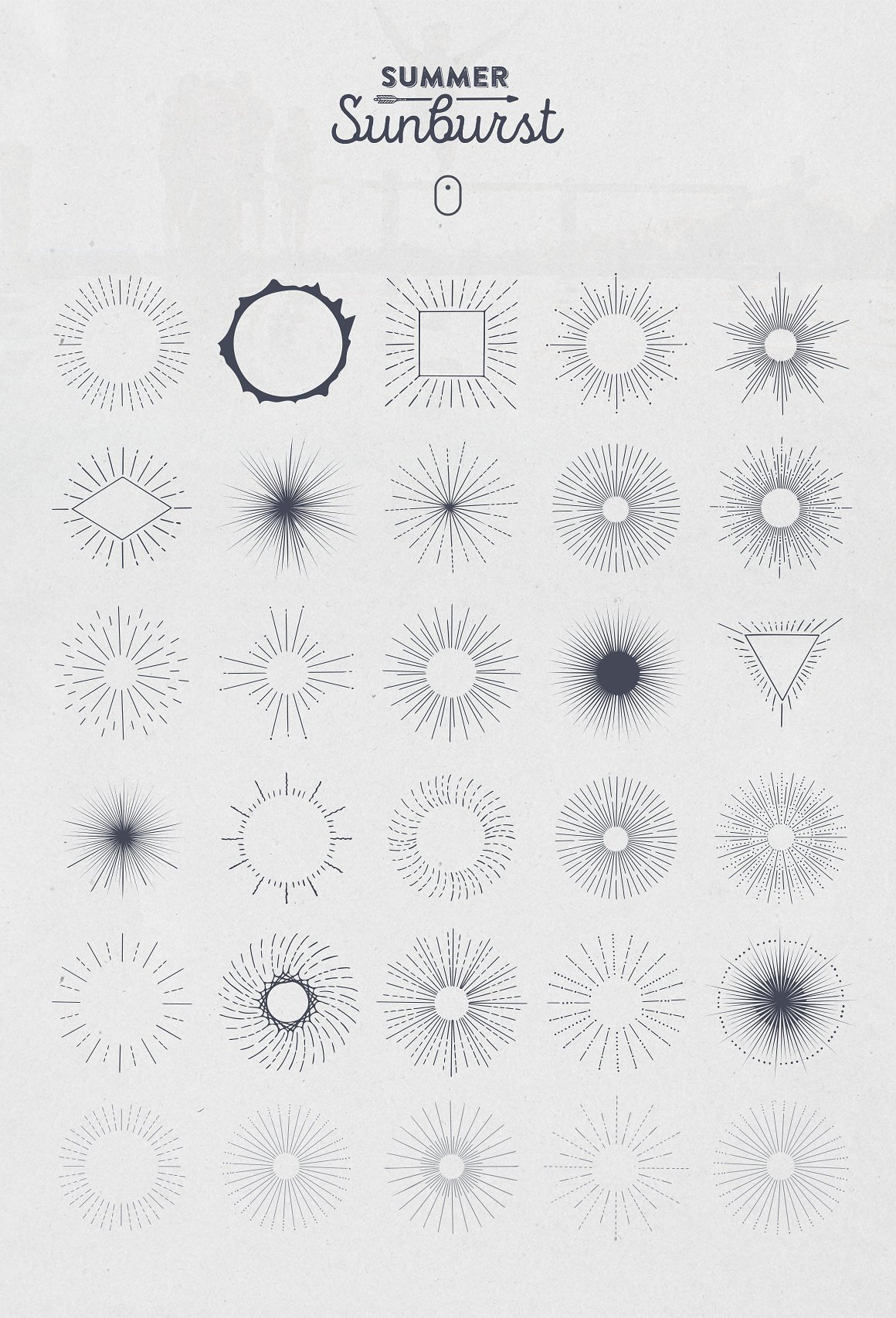 Summer Sunburst Vector Set