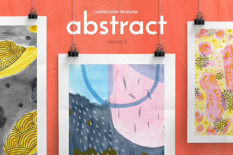 Abstract Watercolor Textures vol. 2