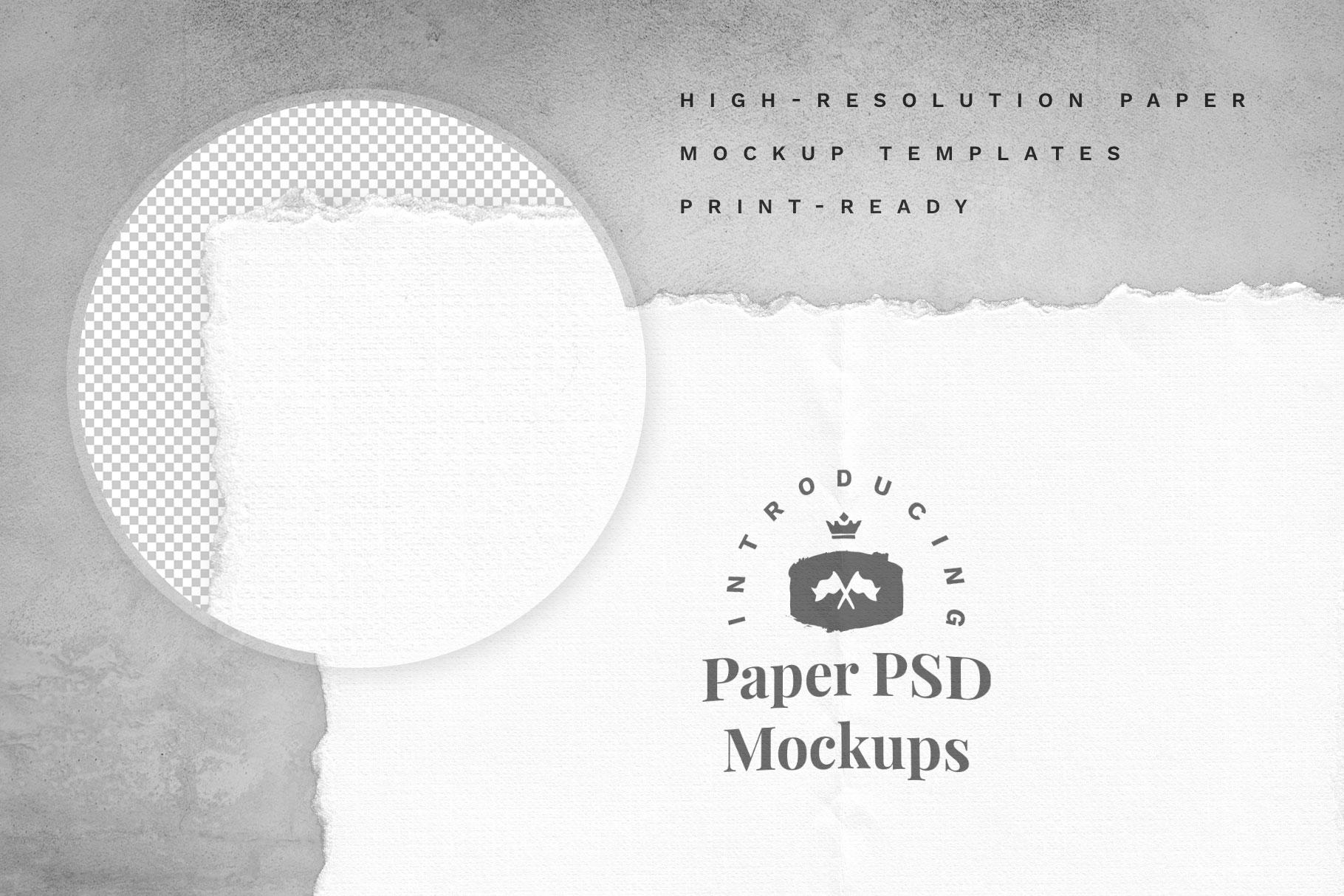 Creative Veila – Download Free Hand-Made Paper Mockup Set