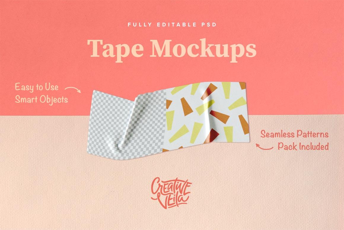 Creative Veila – Download Free Washi Tape PSD Mockups
