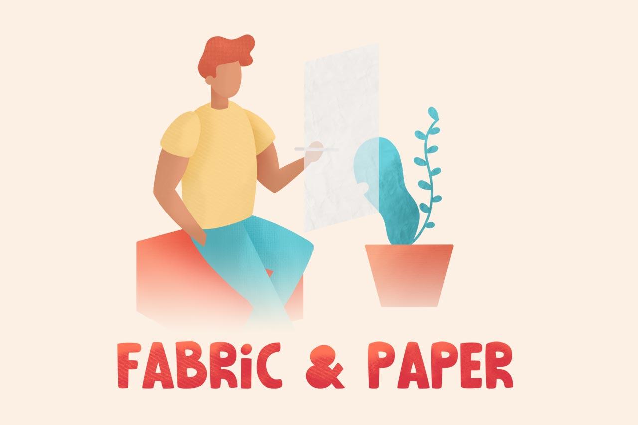 Fabric & Paper Procreate Brushes