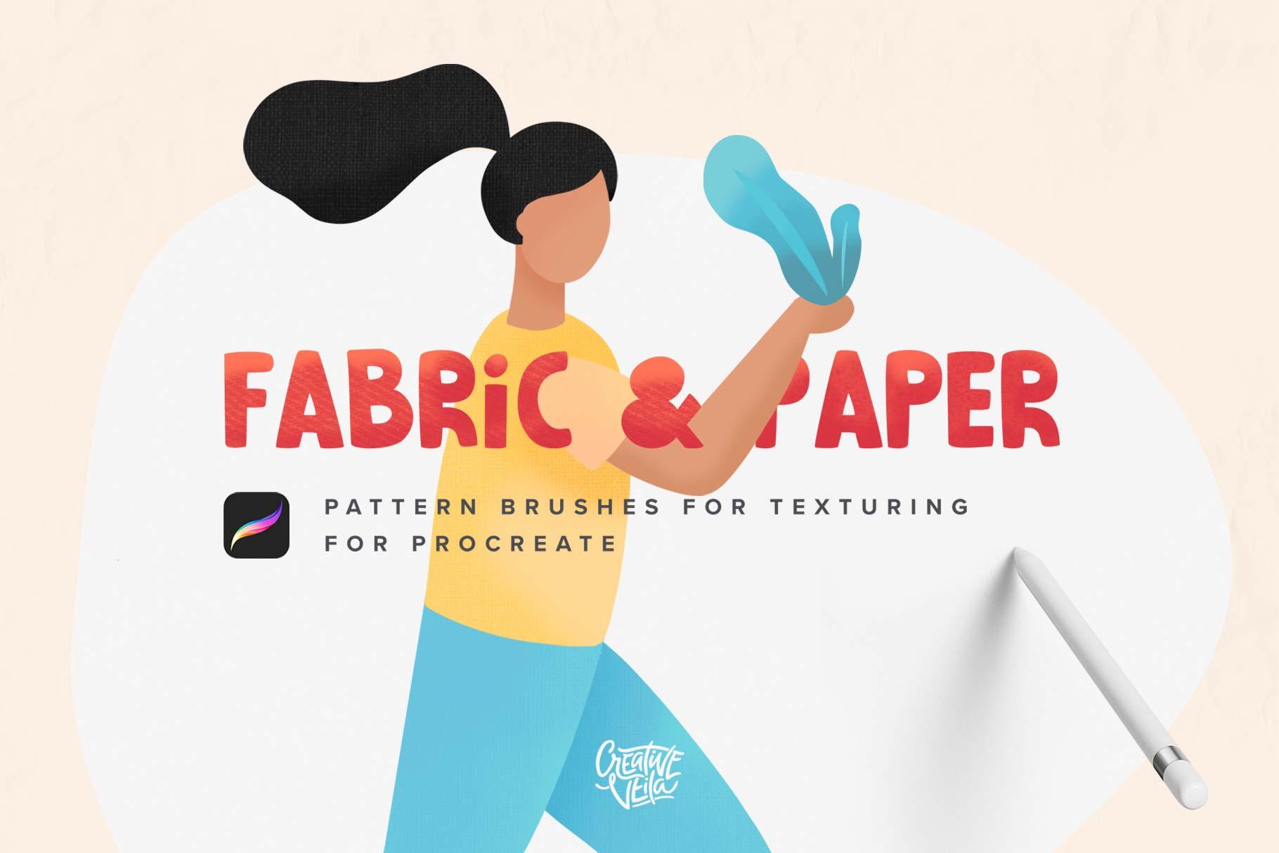 Creative Veila – Fabric & Paper Procreate Brushes