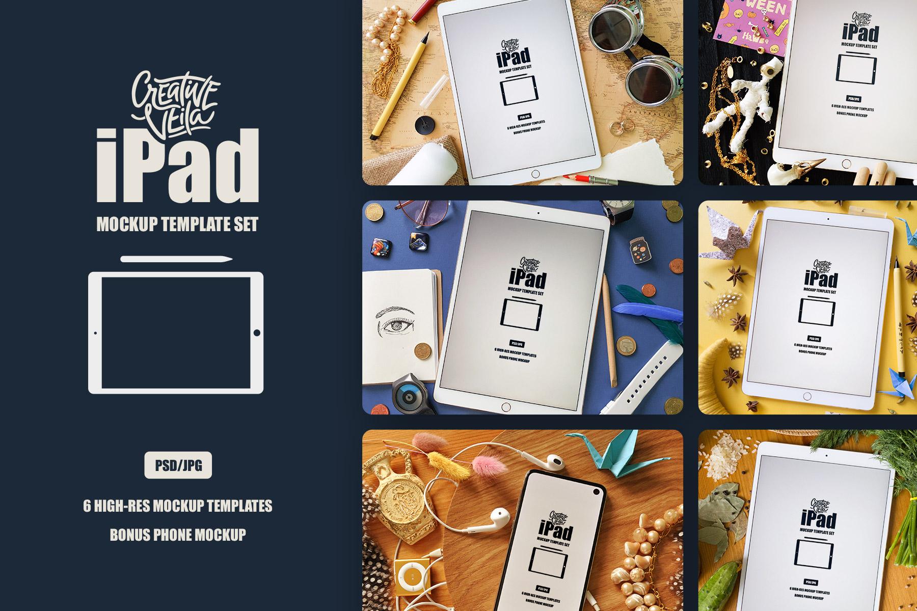 Free iPad Mockup Scenes