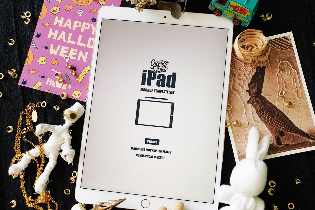 Free iPad Mockup Template Set
