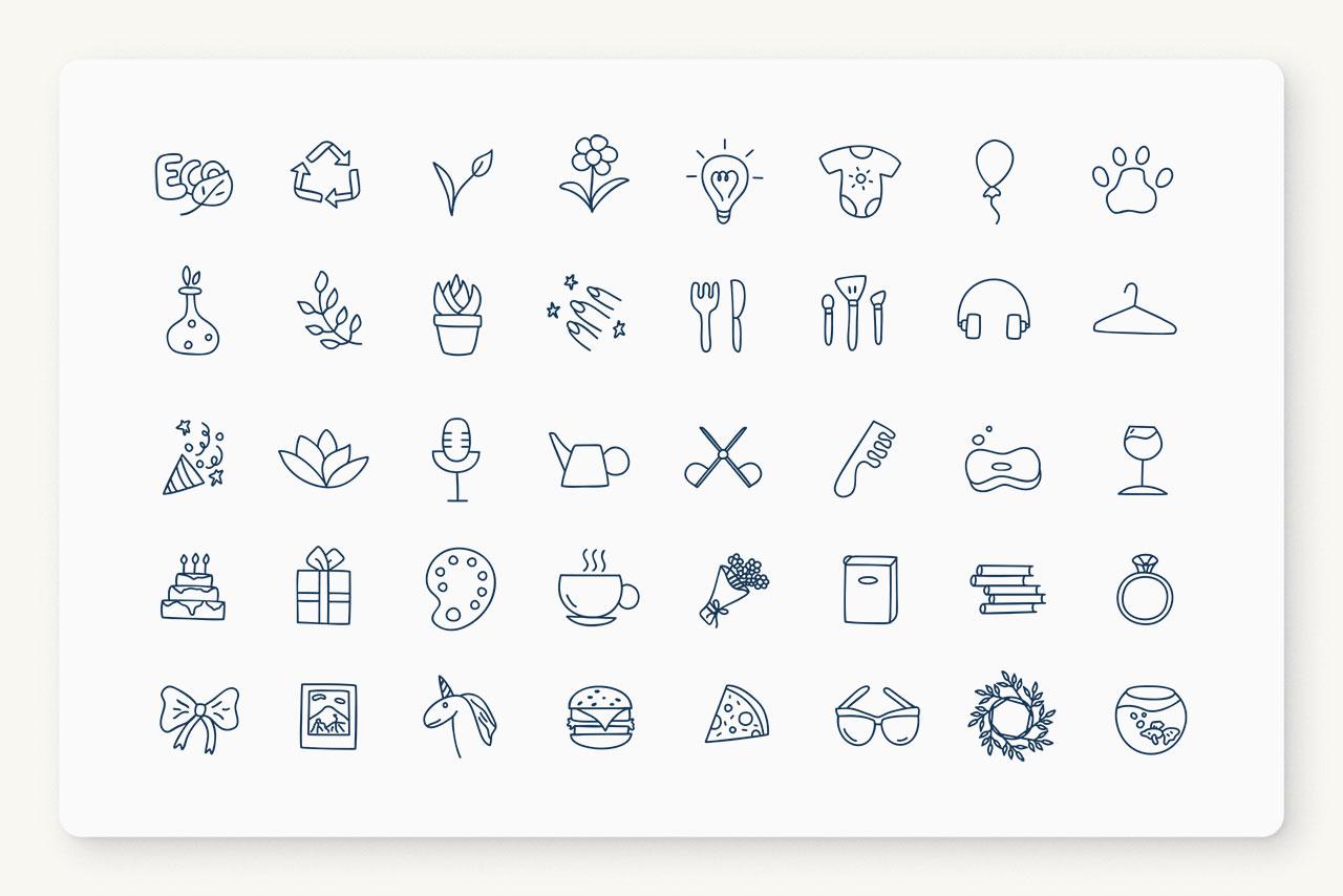 Adorable Hand-Drawn Vectors Icons