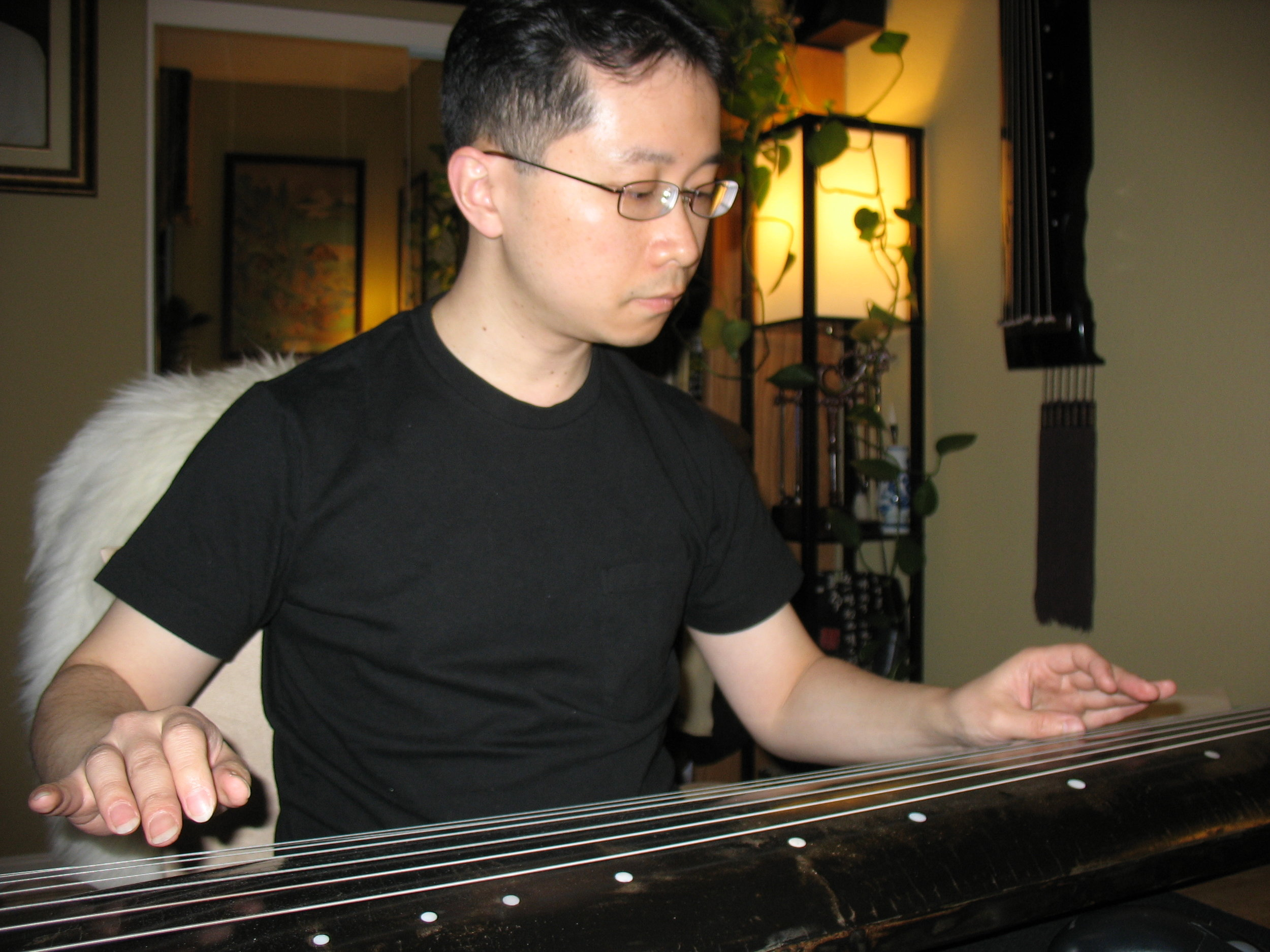 John Guo   A music and art lover, John enjoys playing the guqin and practicing calligraphy in his spare time.  John is a librarian and lives in the Bay Area.
