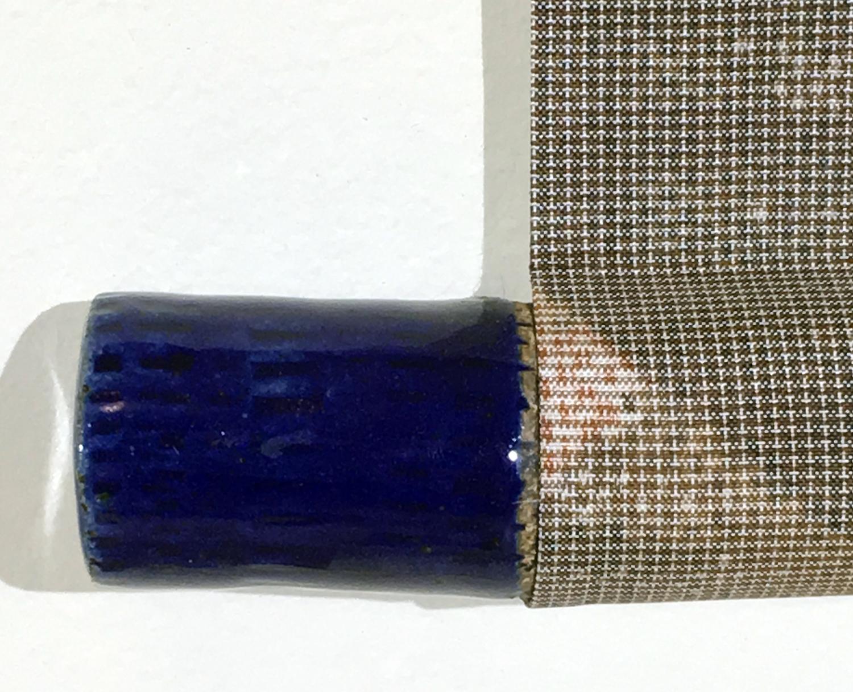 cobalt glaze ceramic finial