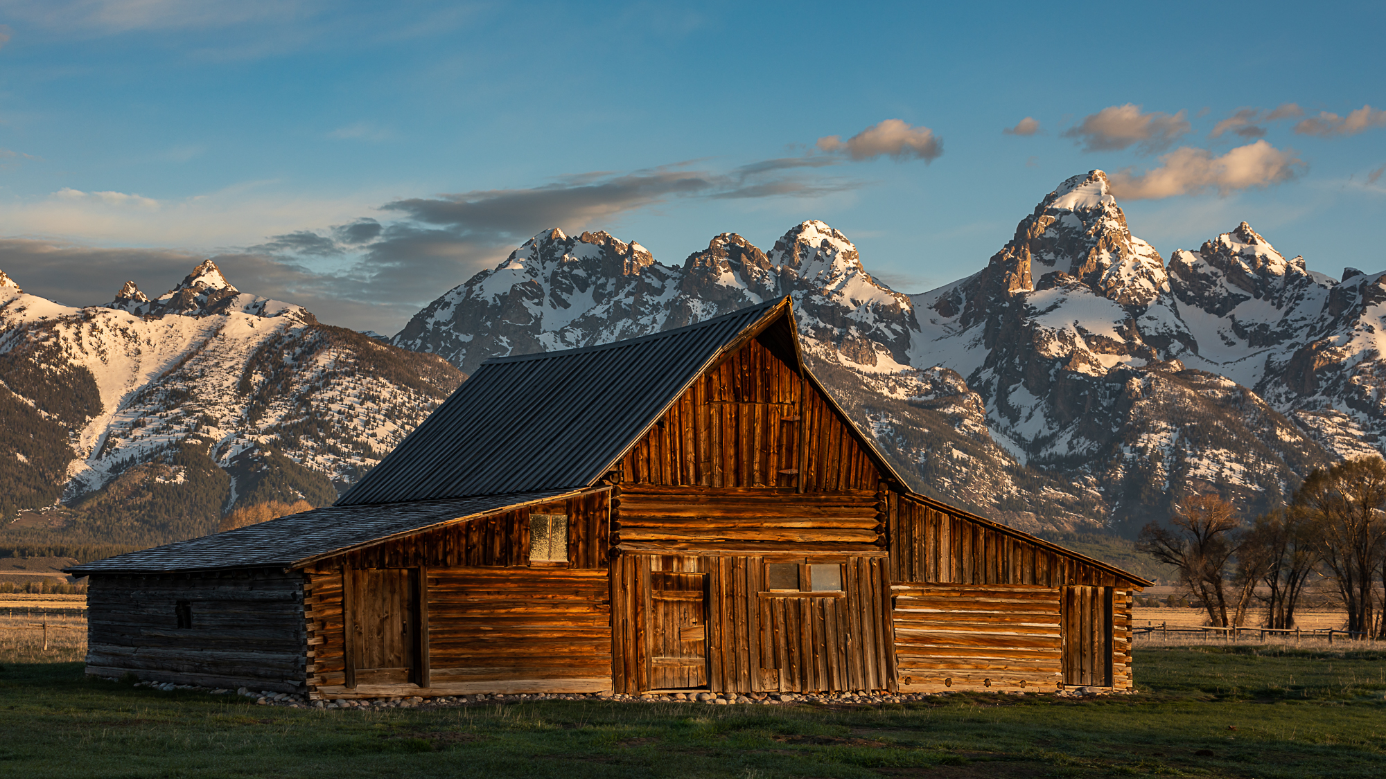 The other Moulton Barn with the Tetons in the background.