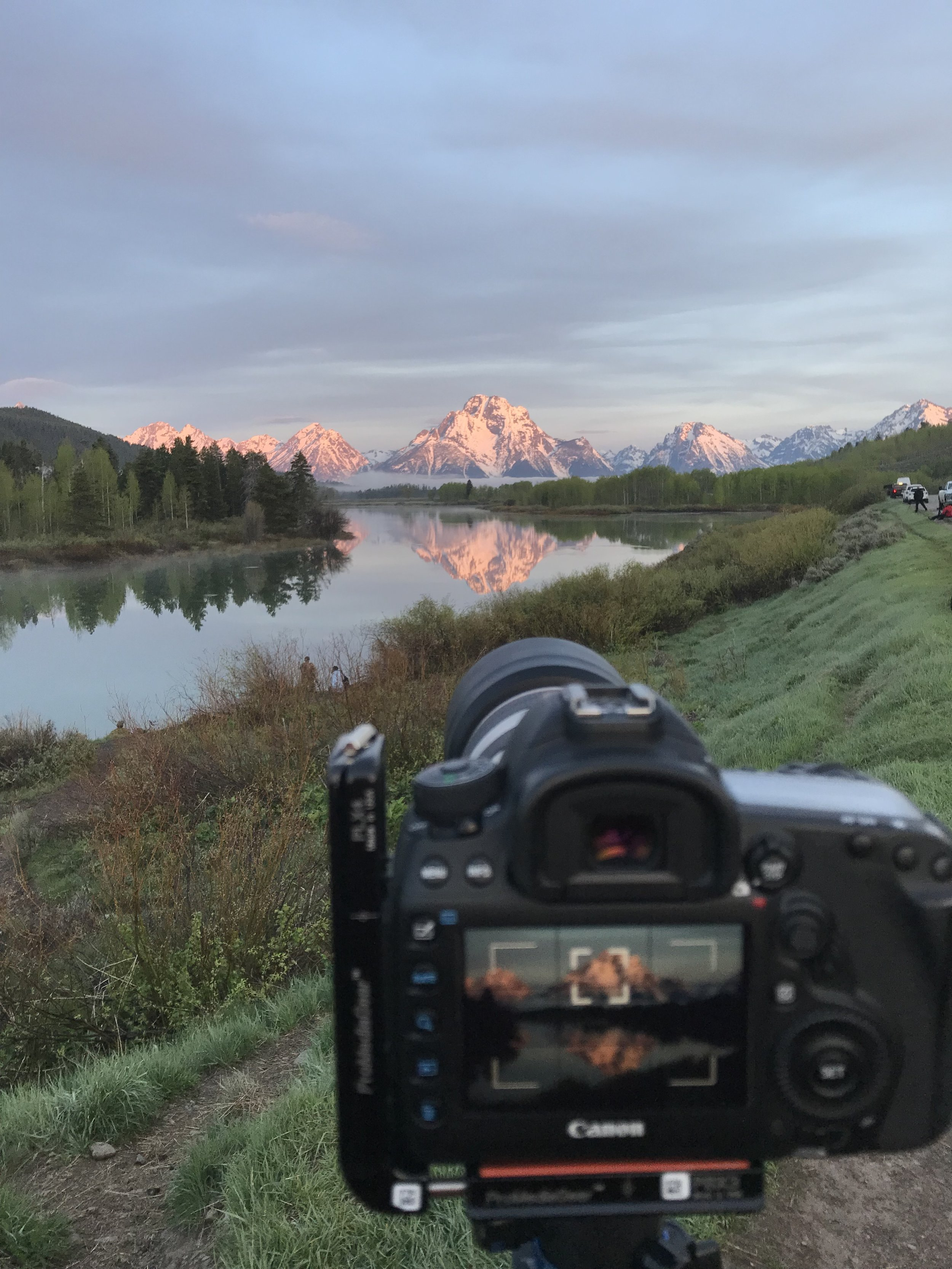 A behind the scene look at yesterday's sunrise.