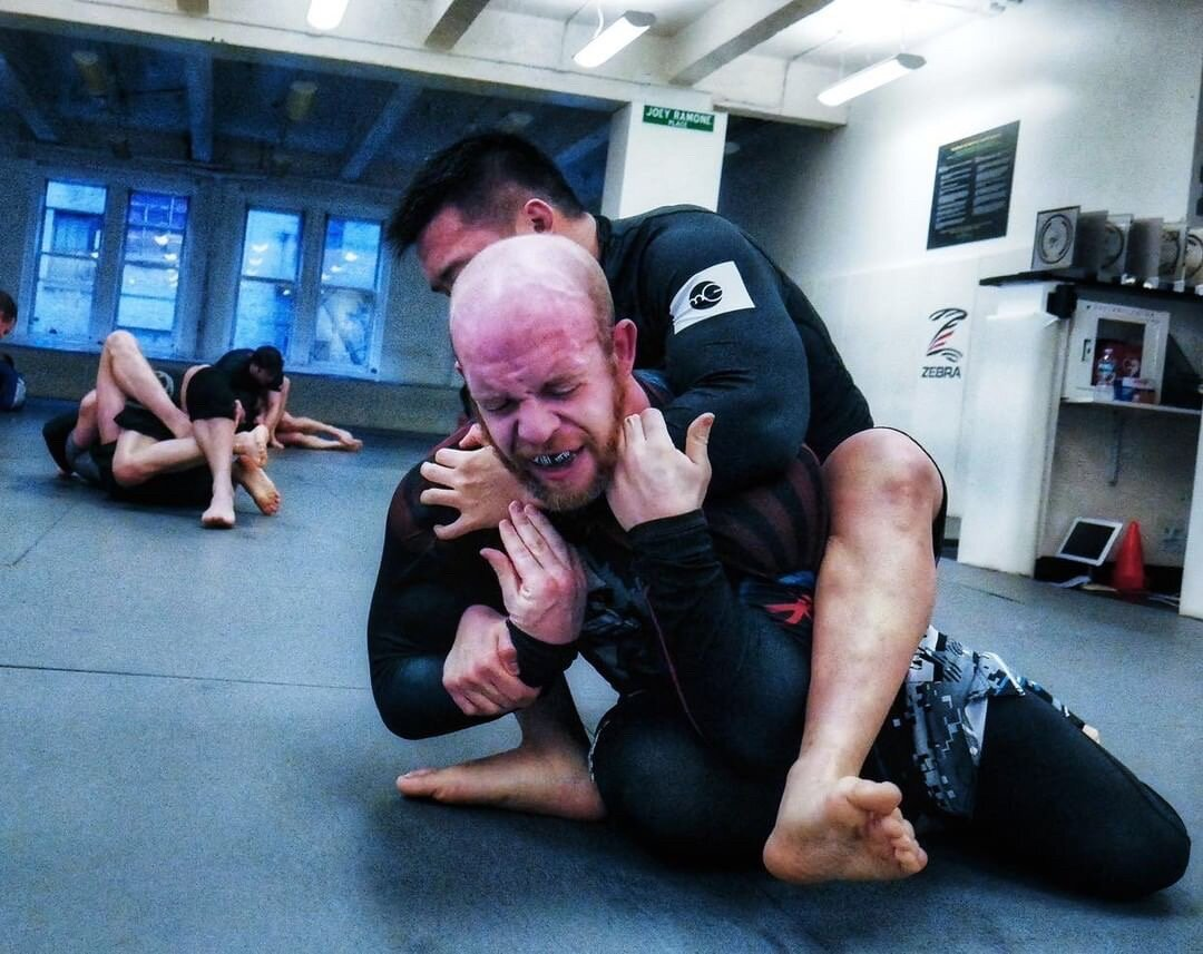 Grappling at Professor Marcelo Garcia's Academy