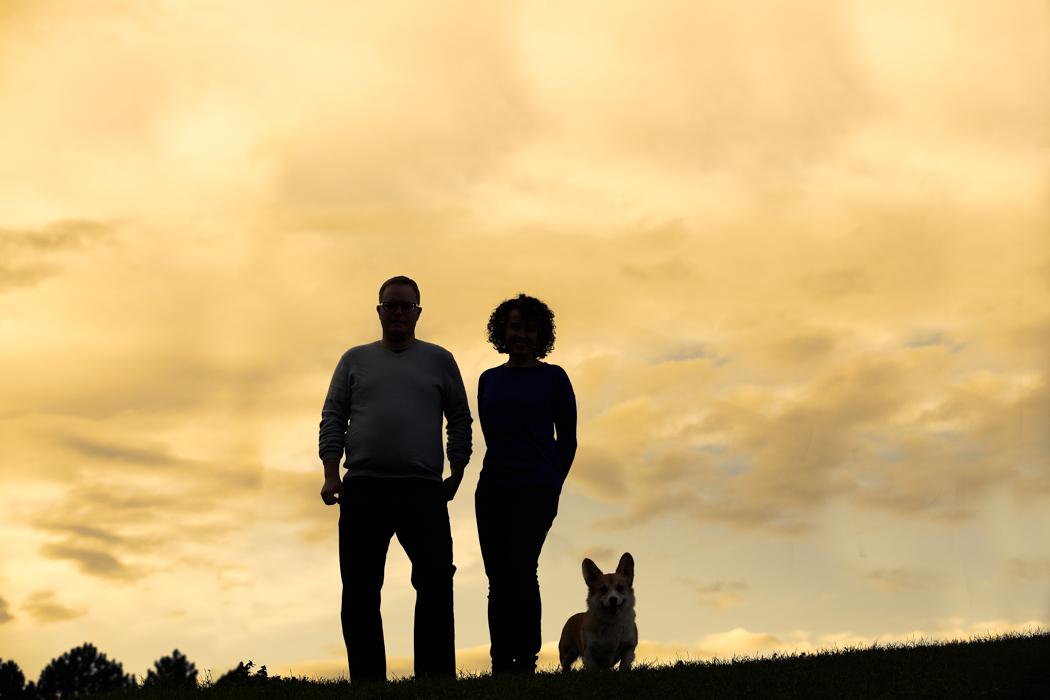 Silhouette-couple-and-dog-Toronto-dog-photographers