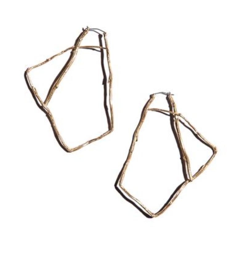 "K/ller ""Willow"" Brass Hoops  https://www.kllercollection.com/collections/earrings"