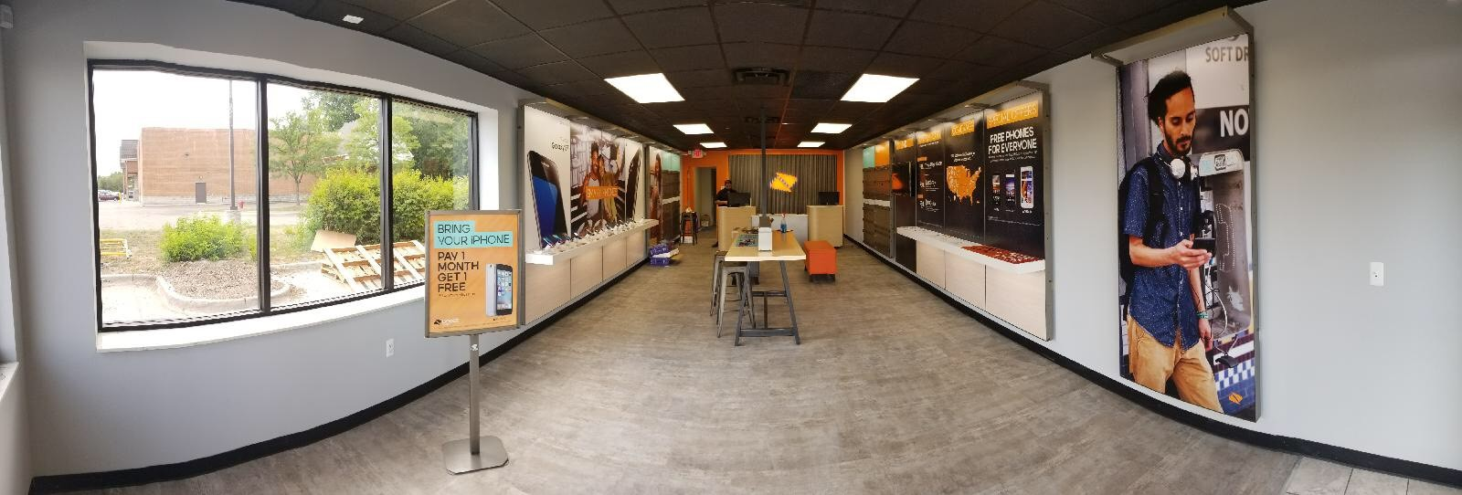 A large part in Boost Mobile's revamping included remodeling their stores.