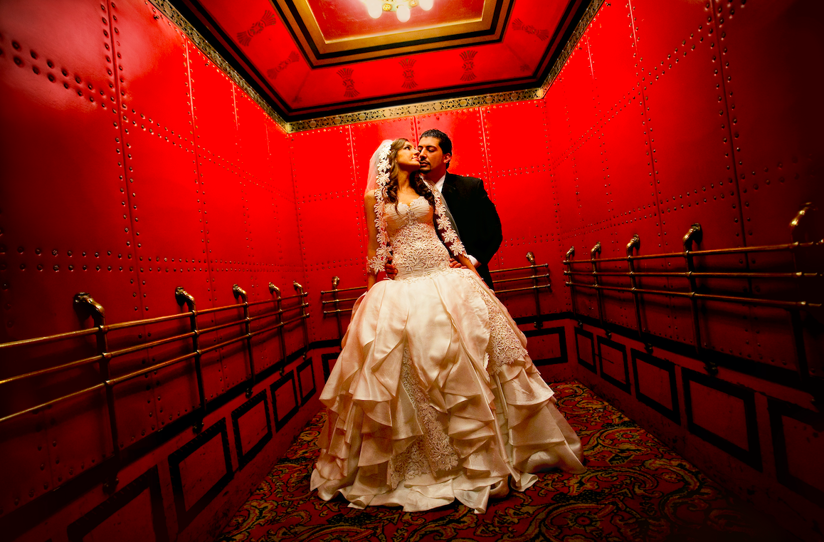 The Fox Theatre's red elevator! This was the first time we shot this image and it's been a masterpiece in our studio ever since! It's been more 10 years and still one of our faves!