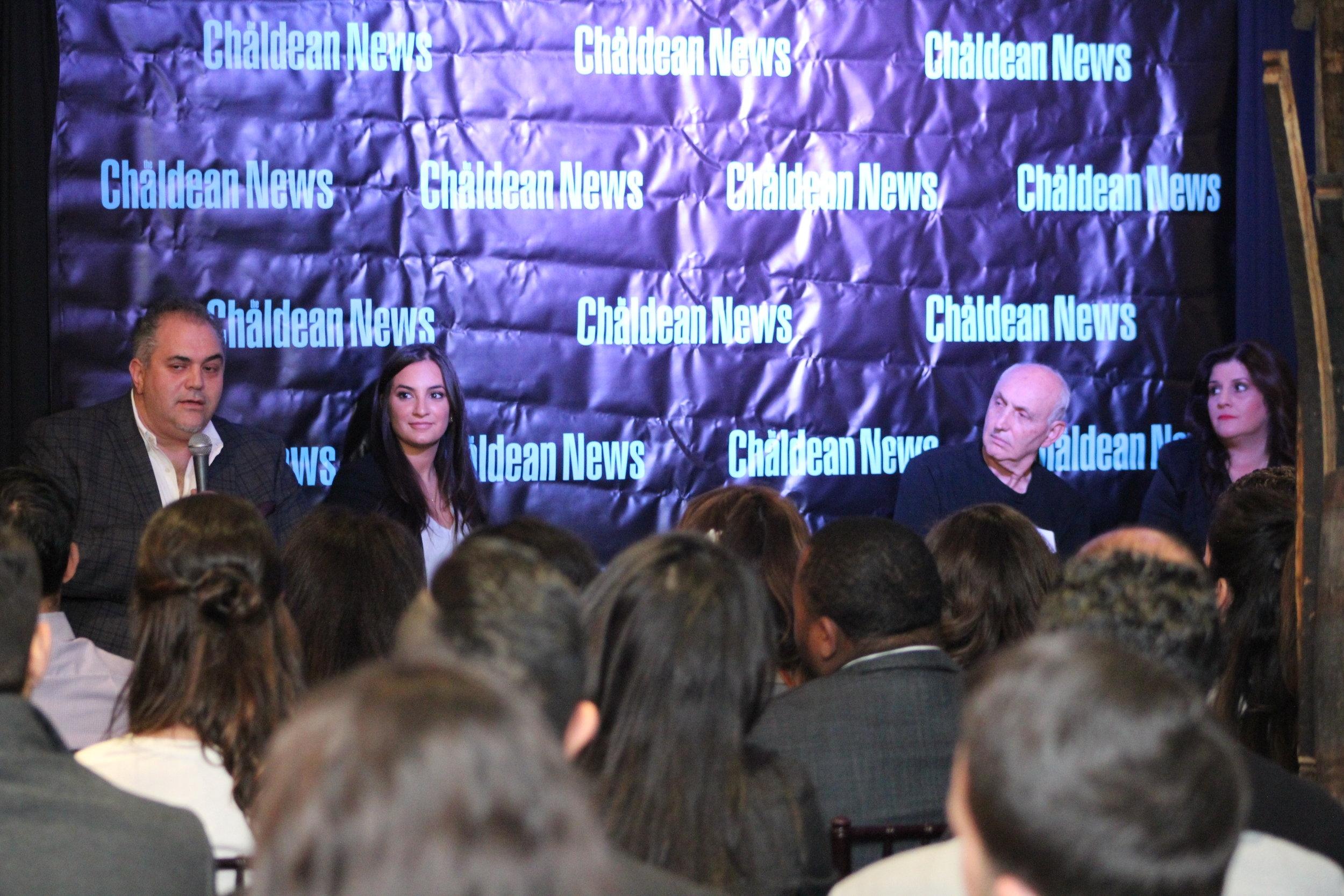 From Left to Right: Zaid Elia, Serena Denha, John Jonna, and Zeana Attisha