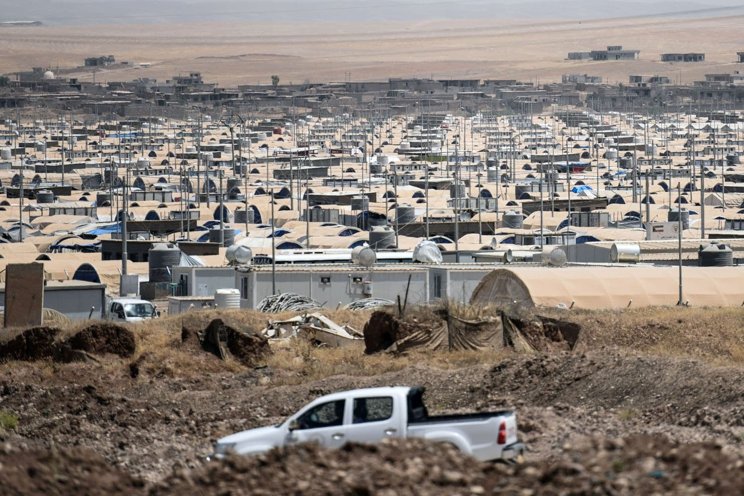 The Khazir camp near Irbil, Iraq, already holds thousands of internally displaced Iraqis. (Mohamed El-Shahed/AFP/Getty Images)